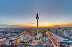 The famous Television Tower, Berlin Stock Images