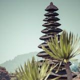 Famous temple at beratan lake, Bali, Indonesia Royalty Free Stock Image