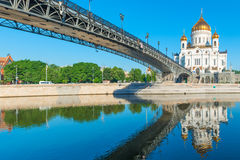 Famous temple of Christ the Savior Royalty Free Stock Photo