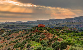 The famous Temple of Concordia in the Valley of Temples near Agrigento Royalty Free Stock Photo