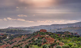 The famous Temple of Concordia in the Valley of Temples near Agrigento Stock Images