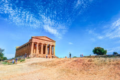 The famous Temple of Concordia in the Valley of Temples near Agrigento Stock Image