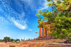 The famous Temple of Concordia in the Valley of Temples near Agrigento Royalty Free Stock Photography