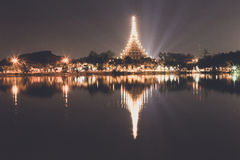 Famous temple in Khonkaen Stock Photo
