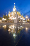 Famous temple at Night: Loha prasat & x28;metallic castle& x29; of Ratchan Royalty Free Stock Photography