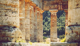 The famous temple of Segesta in Sicily, Italy Royalty Free Stock Photography