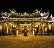 The famous temple of Taiwan. The ancient and one of famous temple in Taiwan stock image