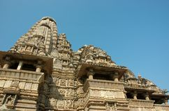 Famous temples in India with kamasutra love scenes Royalty Free Stock Photo