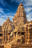 Famous temples of Khajuraho, India Royalty Free Stock Photos