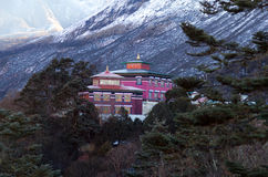 Famous Tengboche Buddhist monastery in Sagarmatha National Park, Royalty Free Stock Photography
