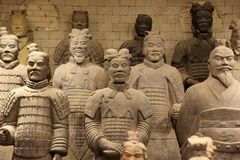The famous terracotta warriors stock images