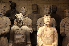 The famous terracotta warriors Stock Photo