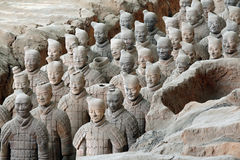 Famous terracotta warriors in Xian, China Stock Images