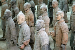 Famous terracotta warriors in Xian, China Stock Image