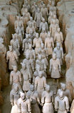 Famous terracotta warriors in Xian, China Royalty Free Stock Images