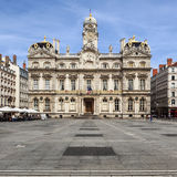 The famous Terreaux square in Lyon city Stock Image