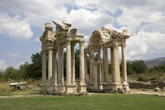 Famous Tetrapylon Gate in Aphrodisias Stock Photography