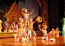 The famous Thai Culture and traditional dances Royalty Free Stock Images