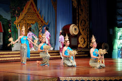 The famous Thai Culture and traditional dances show in Nong Nooch tropical garden Stock Photo