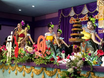 The famous Thai Culture and traditional dances show Royalty Free Stock Image