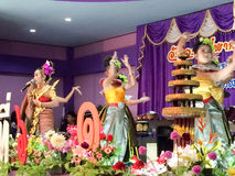 The famous Thai Culture and traditional dances show Stock Photos