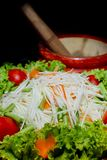 Famous Thai food, papaya salad or what we called. Closeup Famous Thai food, papaya salad or what we called Somtum in Thai Royalty Free Stock Photo