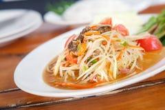 Famous Thai food, papaya salad. Famous Thai food, papaya salad or what we called Somtum in Thai royalty free stock photos