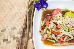 Famous Thai food, papaya salad. Or what we called Somtum in Thai royalty free stock photos