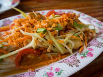 Famous Thai food, Papaya sald Somtam.  stock photography