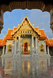 Famous Thai marble temple Royalty Free Stock Images