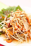 Famous Thai style spicy food, Somtam. One of most famous Thai food, Som Tam Royalty Free Stock Photos