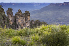 The famous Three Sisters rock formation in the Blue Mountains Na Royalty Free Stock Image