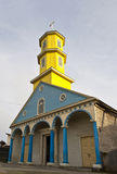 Famous timber church on Chiloe island, Chile Stock Photo