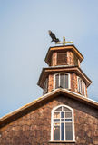 Famous timber church on Chiloe island, Chile Stock Photography