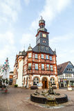 Famous timbered town hall  in Lorsch Stock Photo