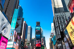 The famous Times Square in New York, USA Stock Photos