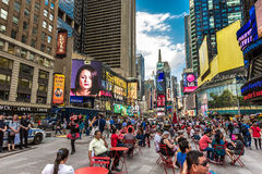 The famous Times Square in New York, USA Stock Photography