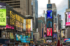 The famous Times Square in New York, USA Stock Image