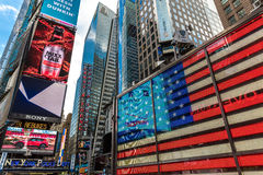 The famous Times Square in New York, USA Royalty Free Stock Photography