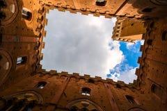 Famous Torre Del Mangia Lizenzfreie Stockbilder