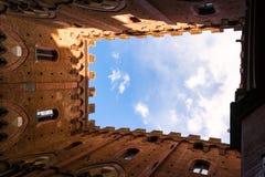 Famous Torre Del Mangia Lizenzfreies Stockfoto