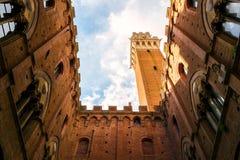 Famous Torre del Mangia Image libre de droits