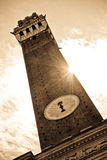 Famous Torre del Mangia in Siena, Italy Royalty Free Stock Image