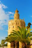 Famous Torre del Oro in Seville, Spain. Picture of the famous Torre del Oro in Seville, Spain stock image