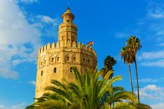 Famous Torre del Oro in Seville, Spain. Picture of the famous Torre del Oro in Seville, Spain royalty free stock photography