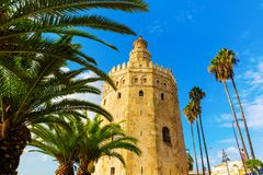 Famous Torre del Oro in Seville, Spain. Picture of the famous Torre del Oro in Seville, Spain stock photography