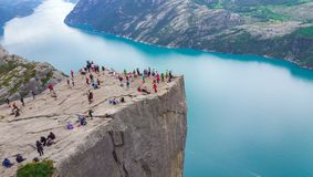 famous tourist areas of Norway and tourist trips stock photography