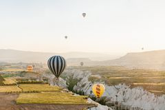 The famous tourist attraction of Cappadocia is an air flight. Cappadocia is known all over the world as one of the best Royalty Free Stock Photos