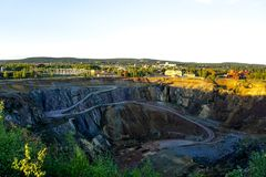 Falun copper mine. A famous tourist attraction in Falun, Sweden Stock Photography