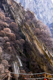 The famous tourist attractions in Shaanxi province China, Huashan mountain. Royalty Free Stock Photos